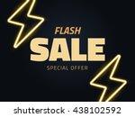 vector flash sale vector... | Shutterstock .eps vector #438102592