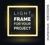 vector abstract neon frame ...   Shutterstock .eps vector #438102646