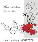heart valentines day background | Shutterstock .eps vector #43812127