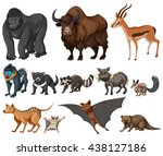 different kind of wild animals... | Shutterstock .eps vector #438127186