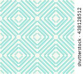 seamless wallpaper of line art... | Shutterstock .eps vector #438128512