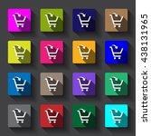 shopping cart icon vector flat...