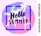 hello summer. modern... | Shutterstock .eps vector #438136816