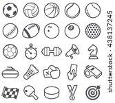 sport icons | Shutterstock .eps vector #438137245