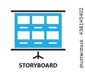 film storyboard template  icon ... | Shutterstock .eps vector #438145402