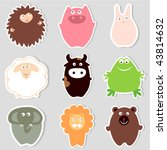 Stock vector cute animals 43814632