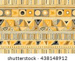 seamless geometric pattern in... | Shutterstock .eps vector #438148912