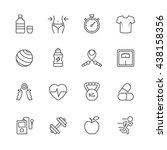 fitness icons. | Shutterstock .eps vector #438158356