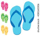 Slippers Set Of Female With...