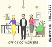 office co workers illustration... | Shutterstock .eps vector #438171526