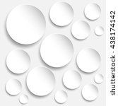 round with shadow round white... | Shutterstock .eps vector #438174142