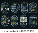 olive oil retro vintage... | Shutterstock .eps vector #438179455