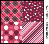a set of 4 vector patterns for... | Shutterstock .eps vector #43818796