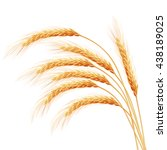 wheat ears with space for text. ...   Shutterstock .eps vector #438189025