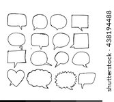 speech bubble hand drawing... | Shutterstock .eps vector #438194488