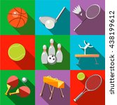 set icons sports equipment with ... | Shutterstock .eps vector #438199612