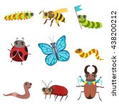 insect cartoon images set in... | Shutterstock .eps vector #438200212