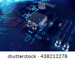 3d rendering futuristic blue... | Shutterstock . vector #438212278