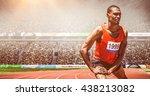 front view of sportsman is... | Shutterstock . vector #438213082