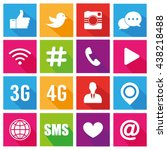 icons for social networking... | Shutterstock .eps vector #438218488