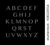 thin font. futuristic font.... | Shutterstock .eps vector #438220516