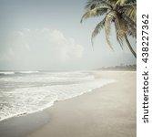 nature tropic background in... | Shutterstock . vector #438227362