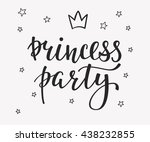 princess party bridal shower... | Shutterstock .eps vector #438232855