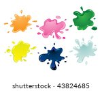 vector color paint splashes | Shutterstock .eps vector #43824685