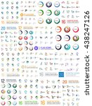 abstract logo mega set.... | Shutterstock . vector #438247126