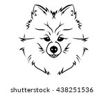 dog breed line art logo  ... | Shutterstock .eps vector #438251536