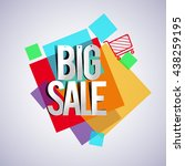 big sale with colorful... | Shutterstock .eps vector #438259195