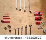 flat lay of set of tools for... | Shutterstock . vector #438262522