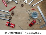 flat lay of set of tools for... | Shutterstock . vector #438262612