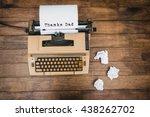 thanks dad written on paper... | Shutterstock . vector #438262702