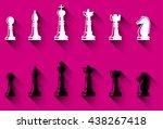 set of chess figures. chess... | Shutterstock . vector #438267418