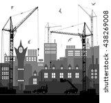 industrial european vintage... | Shutterstock . vector #438269008