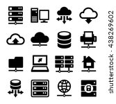 big data center and server... | Shutterstock . vector #438269602
