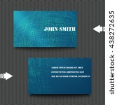 business card template with... | Shutterstock .eps vector #438272635