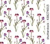 garden forest flowers... | Shutterstock . vector #438274015