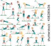 fitness infographics. set of... | Shutterstock .eps vector #438280636