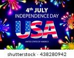 fireworks background for 4th of ... | Shutterstock .eps vector #438280942