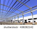 steel structure workshop is... | Shutterstock . vector #438282142