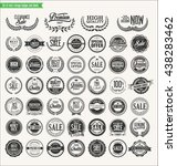 retro vintage badges and labels ... | Shutterstock .eps vector #438283462
