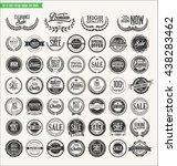 retro vintage badges and labels ... | Shutterstock .eps vector #438283462
