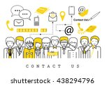 business people contact us on... | Shutterstock .eps vector #438294796