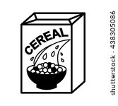 cereal simple icon or... | Shutterstock .eps vector #438305086