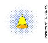golden hand bell icon  comics... | Shutterstock . vector #438309592