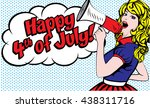 happy 4th of july. united...   Shutterstock .eps vector #438311716