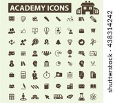 academy icons | Shutterstock .eps vector #438314242