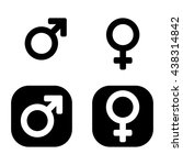 vector male   female icon set.... | Shutterstock .eps vector #438314842